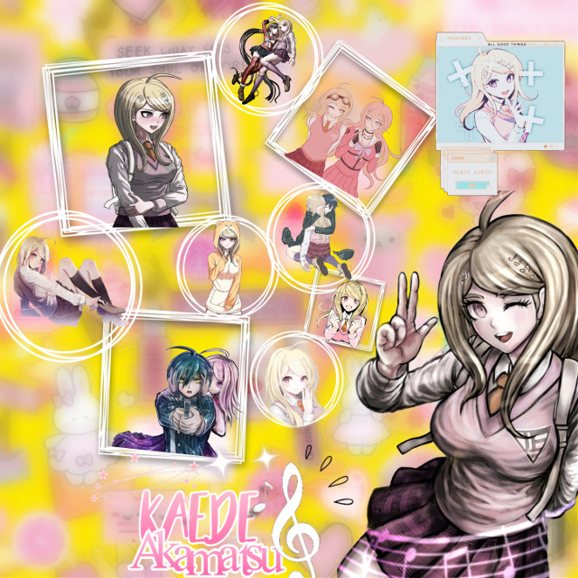 Go follow a d support @mxuirumx, her post are amazing✨!  Character name: Kaede Akamatsu  Character from : Danganronpa  Birthday : March 26 (Zodiac sign : Aries ♈)  Hight : 1'67 cm Weight : 53kg  Blood tipe : O Likes : Piano keys  Dislikes : Bicycles  If you have questions you can ask them in the comments and again, go follow @mxuirumx she is amazing just like her posts!