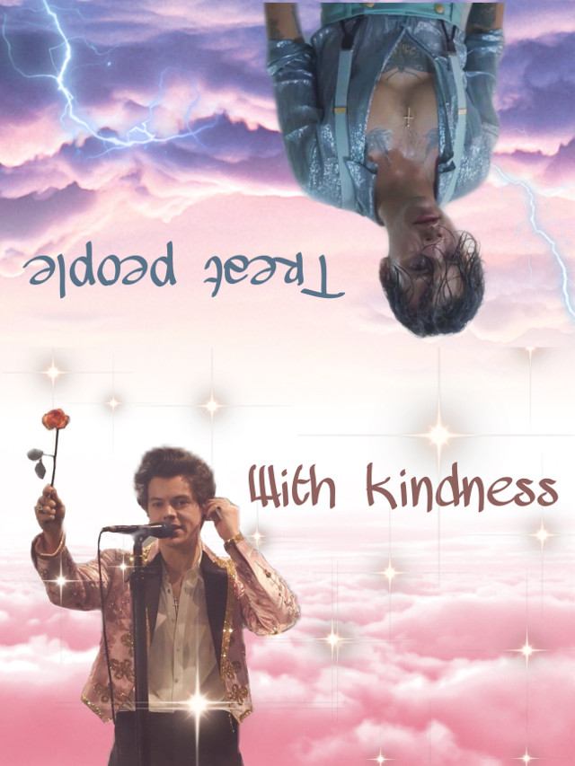 #harry #styles #harrystyles #tpwk #treatpeoplewithkindness #dark #light #pink #kindness #onedirection #edit #picsart