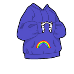 gachalife gacha life arcobaleno emoji blu viola cute gachalifecute maglietta felpa freetoedit