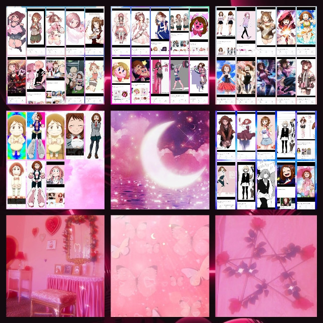 Almost all of the pictures I have of Uraraka...? :P  #waifuforlaifu