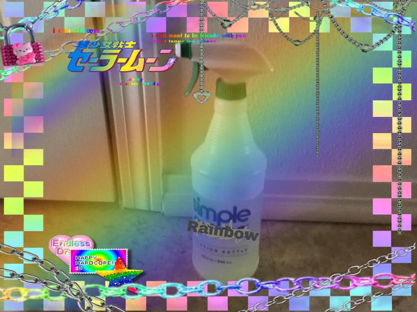 Simple rainbow! #rainbow #simplegreen #rainbows