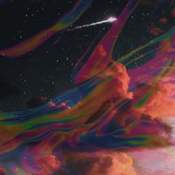 galaxy holographic moon blackandwhite nuvem laranja fundolaranja feed freetoedit rcholographicbackground holographicbackground
