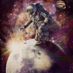 freetoedit rcholographicbackground holographicbackground astronaut universum