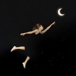 surreal freetoedit moon crescent