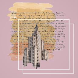 rose texte cadre peinture building simple aesthetic freetoedit