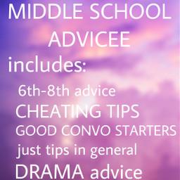 interesting advice advicesforlife middleschool middleschooladvice freetoedit
