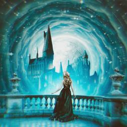 princess castle moon freetoedit unsplash