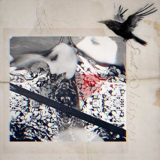 #babelart #art #interesting #whispers #secrets #women #trust #photography  #raven #splashofred #doubleexposure #overlay #mybackground #myedit #freetoedit