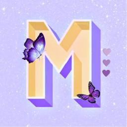 m purple butterfly butterflies glitter bling hearts violet ecartisticalphabet artisticalphabet freetoedit