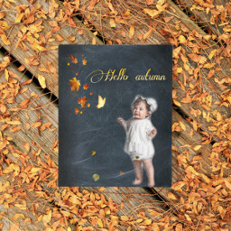 photosession babyphotography autumncolors babygirl ircchalkboarddesign chalkboarddesign freetoedit