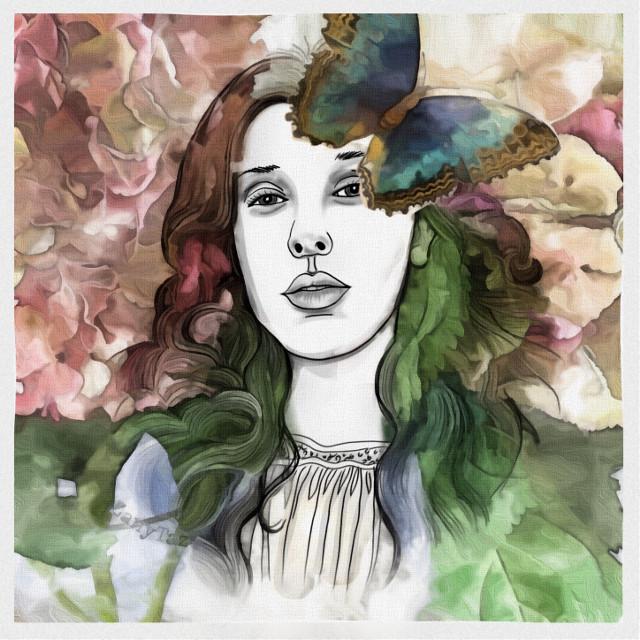 Thank you for beautiful drawing  @draw_art_4u #myedit #artisticportrait @piroskab #freetoedit #myflowers #myflowerphotography #overlay #paintingeffect