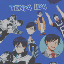 tenyaiida iidatenya tenya iida ingenium bnha mha anime blue freetoedit