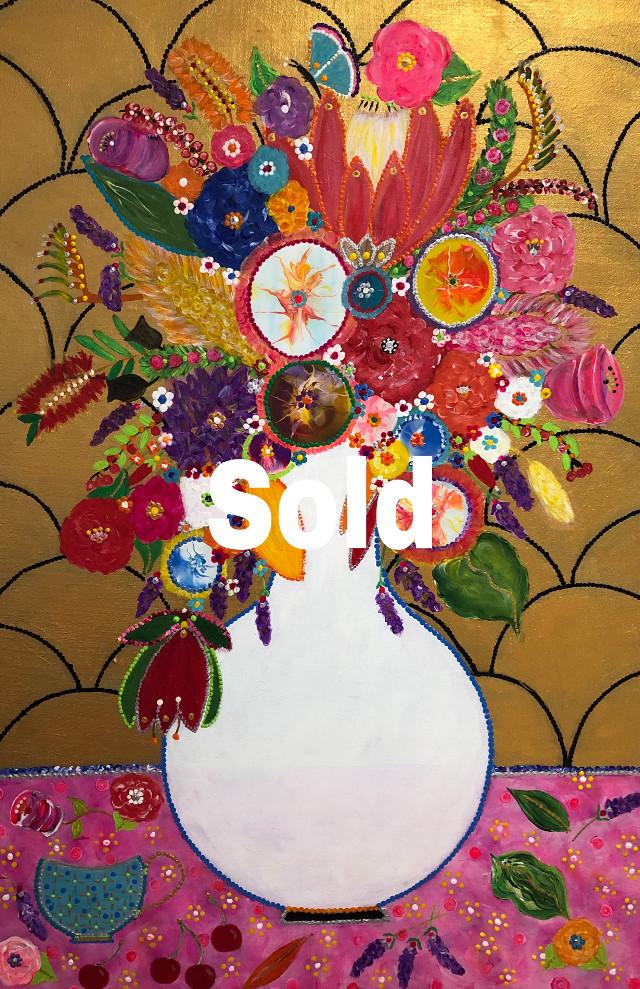 """Freshly pickef flowers for Sasha"" @sashacreswick.   Acrylics on canvas. #art #artist #homececor #abstractexpressionist #expressionistart #artwork #artoftheday #artoninstagram"