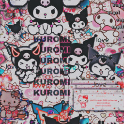hellokitty mymelody hellokittyaesthetic aesthetic wallpaper alt grunge scene scenekid hello kitty my melody melodykawaii emo pink black
