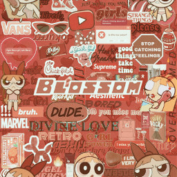 red blossom complex asthetic powerpuffgirls saturday happy angry suprme interesting art balloon background love dude phone wallpaper