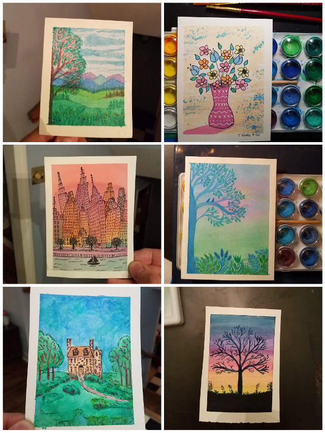 I've taken up Watercolor Painting. I really love it. These are a sample of what I have painted so far. I'm still learning though. I have a watercolor instagram - @toneelyart #watercolor #watercolorpainting #watercolorart #watercolor_daily #watercolorillustration #watercolorartist #artist #watercolors #watercolorist #aquarelle #aquarela #artwork
