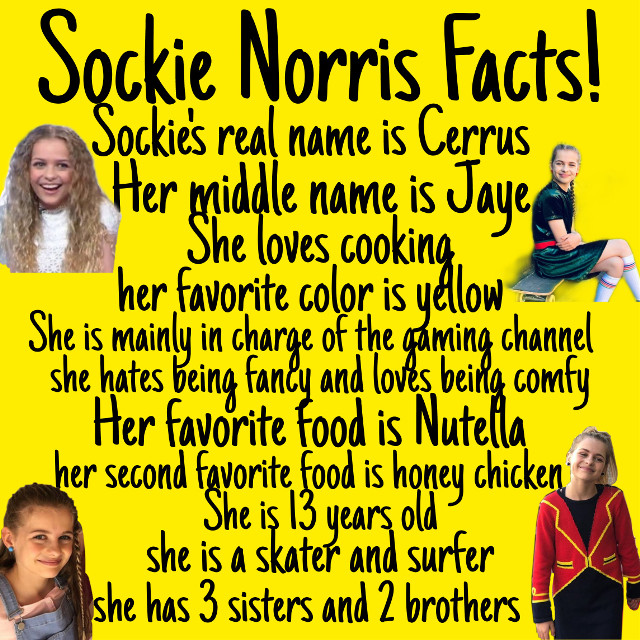 Did you know this about Sockie Norris?!?  #norrisnuts #sockienorris #legends #catchmeknuckles #nntxu #im_nn_fp #nutella #honeychicken #13yearsold #comfy #skater #surfer #chef #cooking #yellow #facts #cerrusnorris #middlename #realname #games #gaming