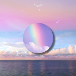 freetoedit pastel moon sky clouds