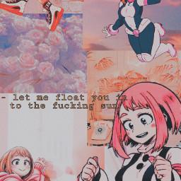 uraraka ochaco urarakaochaco ochauraraka ochako ochakouraraka urarakaochako uravity bnha mha anime pink freetoedit