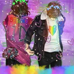 larrystylinson larry harrystyles louistomlinson onedirection larryisreal gayship  💚💙🦋  taglist🦋: @kiwisunflower freetoedit gayship srcdoodlehearts doodlehearts