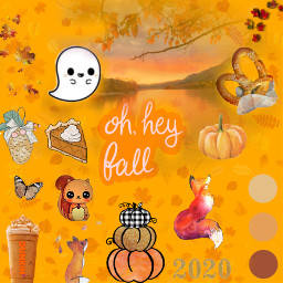 orange warm colors fall challenge expressyourself dunkindonuts coffee butterfly fox pinecone aesthetic pumpkins halloween thanksgiving september2020 october2020 november2020 2020 pretzel leaves sunset ghost cute fc#expressyourselffall2020 #expressyourselffall2020 freetoedit