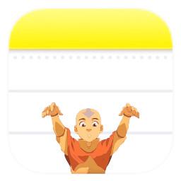 aang avatarthelastairbender atla notes app icon appicon ios14 freetoedit