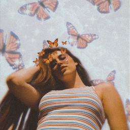 freetoedit butterfly orange aesthetic orangeaesthetic picsart