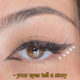 eye eyeliner eyebrows hair brown eyes makeup gems pretty eyelashes
