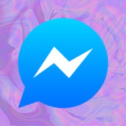 messenger icon messengericon trippy purple blue ios14 freetoedit