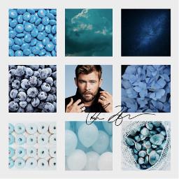 chrishemsworth thor blue freetoedit