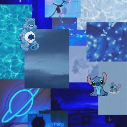 blue wallpaper bluewallpaper bluecollage collage blueaestheticcollage freetoedit