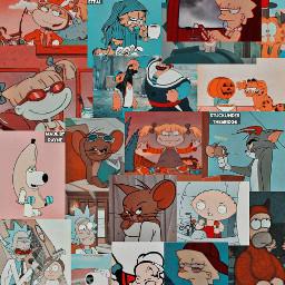 rickandmorty lisasimpson cartoon cartooncollage familyguy thesimpsons garfield