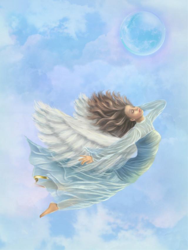 #fantasyart #makebelieve #alternateuniverse #myimagination #woman #angel #fairy #flying #clouds #moonlight #dreamy #surreal #surrealistic #colorful #pastelcolors #stickerart #vignetteeffect #motionblur #aesthetic #artisticedit #becreative #makeawsome  #heypicsart #myedit #madewithpicsart