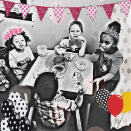 effects oldpic blackandwhite balloons party kids myangels love