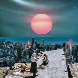 freetoedit unsplash collage sunset sky