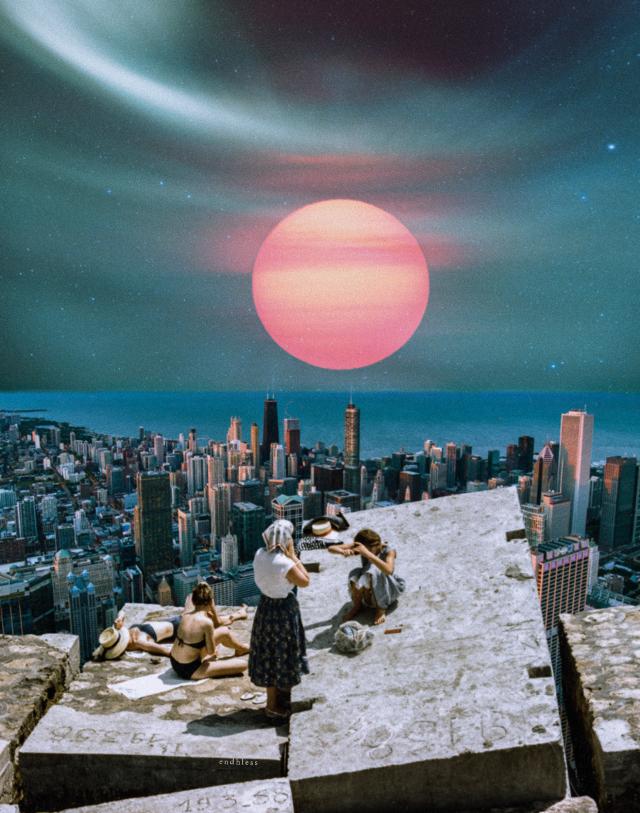 time travel  _________________  photos from unsplash  #freetoedit #unsplash #collage #sunset #sky
