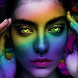 magic freetoedit holo colourful girl rcholographicbackground holographicbackground