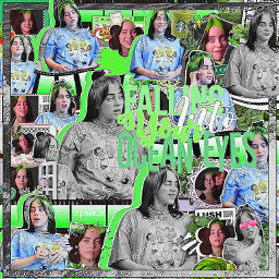 billieeilish oceaneyes complex complexbackground complexoverlay complexediting compelxedit green greenaesthetic freetoedit
