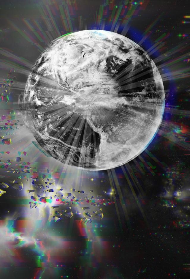 #universe #glitch #galaxyedit #galaxy #blackandwhite