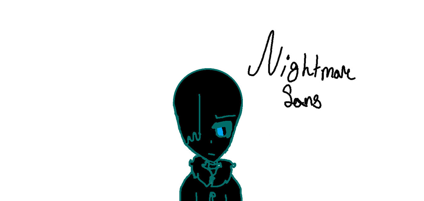 Lol ive ruined nightmare sans XD #nightmaresans