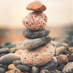 nearthebeach nature stones peebles stacking freetoedit