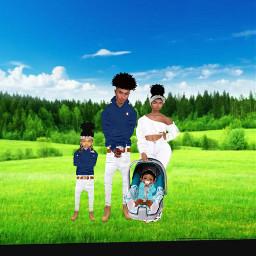 imvu family cute blue grassfield freetoedit