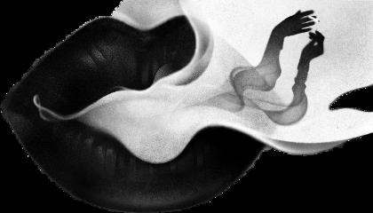 black smoke lips freetoedit