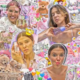 milliebobbybrown florencebymills strangerthings aesthetic edit editedbyme editcomplex pink summer people love cute