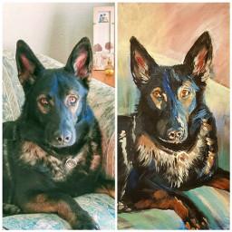 painting dogs myartwork