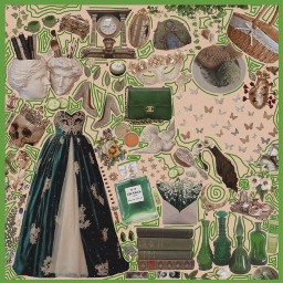 picsart vsco polyvore aesthetic png pngaesthetic green emerald greenwithenvy cottagecore cottagecoreaesthetic masquerade ballgown books butterflies magic potions pnggreen goldpng gold royal beautiful macabre interesting art freetoedit