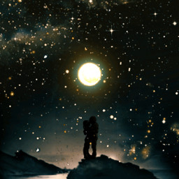 freetoedit edit moon love sky