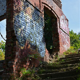 brick stairway paint graffiti adventurephotgraphy freetoedit