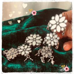 glassearrings earrings earringsdesign silver silverjewelery 925sterlingsilverjewelry 925silver dharohar_1