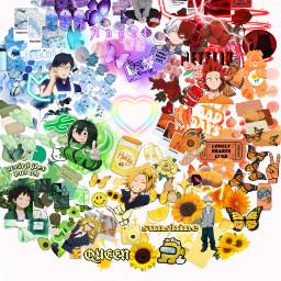 myheroacademia color rainbow anime like folowmepls freetoedit